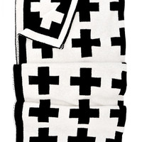Reversible Swiss Cross Baby Blanket