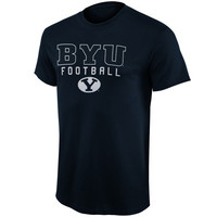 BYU Cougars Frame Football T-Shirt – Navy Blue