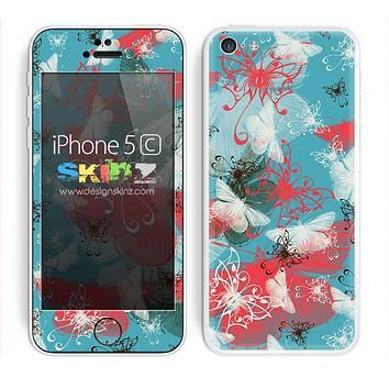 Colorful Abstract Butterfly V2 Skin For The iPhone 5c