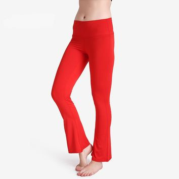 Plain Red Bell Bottom Pants