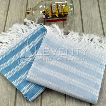 Custom Home Decor Set of 2 Pure Linen Sheet Beach Decor Hijab Towel Natural Living Rustic Bath Yoga Mat Towel Luxury Bathroom Tunusian Towel