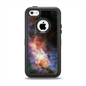 The Mulitcolored Space Explosion Apple iPhone 5c Otterbox Defender Case Skin Set