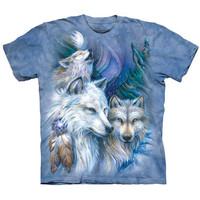 UNFORGETTABLE JOURNEY Wolf T-Shirt Native American Indian Wolves Art S-5XL NEW!