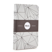 Word. Geo Abstract Print Notebook Set