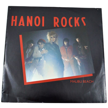 Vintage 80s Hanoi Rocks Malibu Beach Nightmare 12 Inch UK Import Single Record