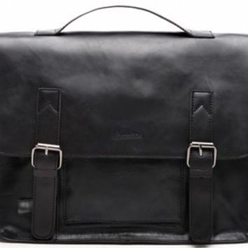 Zebella Vintage Pu Leather Briefcase Shoulder Business Laptop Messenger Bags Tote for Men - Black