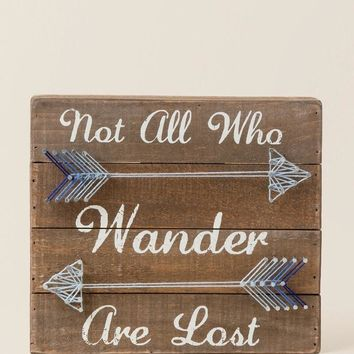All Who Wander String Art Wall Decor