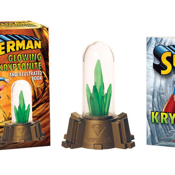 Superman Glowing Kryptonite And Illustrated Book