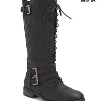 TALL LACE-UP BOOT