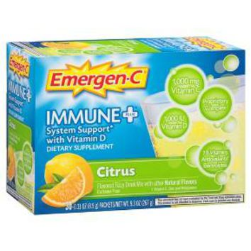 Emergen-C® Immune + D Citrus flavored Vitamin C drink mix - 30ct