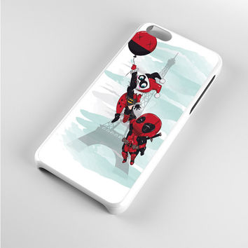 Harley Quinn and Deadpool Chibi iPhone 5c Case