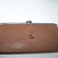 Vintage Women Clutch , from 60s USSR, Russian bag, handbag,  beige