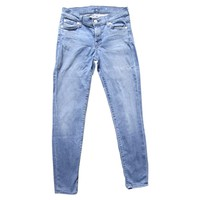 Blue cropped skinny jeans 7 FOR ALL MANKIND Blue