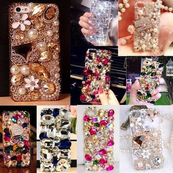 Soft Edge Acrylic mobile phone shell Bling Diamond Luxury Glitter Case For Samsung galaxy A3 2016 A310  Case Cover
