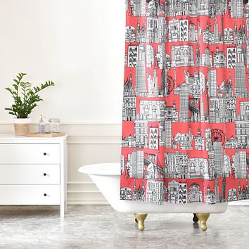 Sharon Turner New York Coral Shower Curtain