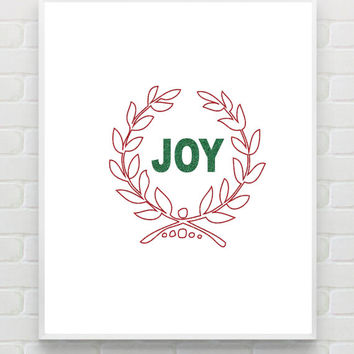 Christmas Art Print Instant Download Printable Christmas Wall Art Wall Decor Holiday Wall Art DIY Holiday Printable Decor Glitter Wall Decor