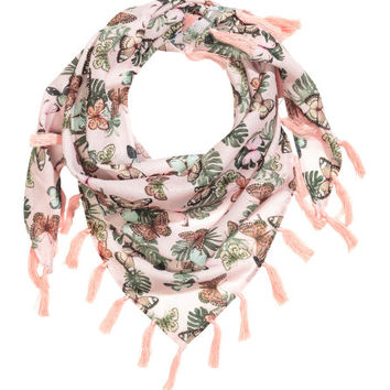 Patterned Triangular Scarf - from H&M