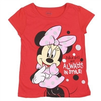 MINNIE MOUSE Girls Toddler T-Shirt   of-2T-3T-4T-xdm7513