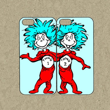 iphone 5s case,iphone 5s cases,iphone 5c case,cool iphone 5c case,cute iphone 5s case,iphone 5 case,5s case--Thing 1 and Thing 2,in plastic.