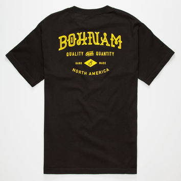 Bohnam Arbor Mens T-Shirt Black  In Sizes