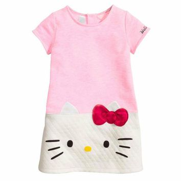 Baby Girls Clothes Hello Kitty Dress for Girls Vestidos Baby Girl Dress Princess Bithday Party Dress Cat Hello Kitty Clothing