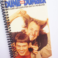 DUMB AND DUMBER Notebook Journal Diary Vhs tape Upcycled Recycled