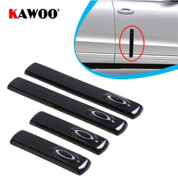 KAWOO Auto Door Crash Strips Exterior Bumper Scuff Strip Decoration Decals Bumper Guard Cover Stickers Accessories Car Styling