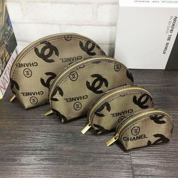 PEAPUF3 Chanel Set Of 4 Cosmetic Bags - For Accessories - Travel Storage Cosmetic bag G-MYJSY-BB