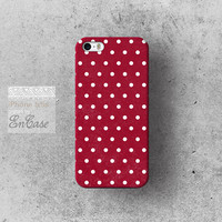 Burgundy Polka dot, Samsung Galaxy S4 3D-sublimated Unique design iPhone 4/4S case iPhone 5/5S case.