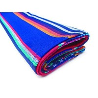BLUE Serape Mexican Table Runner, Fiesta party decorations