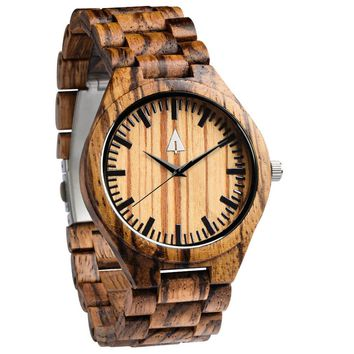 All Wood Watch // All Zebrawood 41