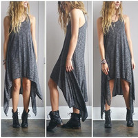 A Simple Flow Dress in Smokey Black