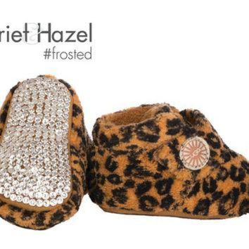 ICIK8X2 Bixbee Leopard UGG Booties - Infant with Swarovski crystal covered sole