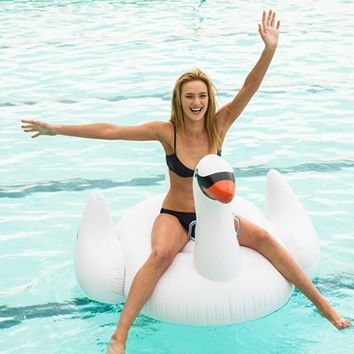 Sunnylife Inflatable Swan Pool Float - White