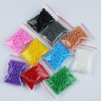 2.6mm mini hama perler fuse beads 10 Colors 5000 Pcs iron beads kids diy handmaking toys PUPUKOU