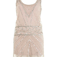 Silver Embellished Vest Dress - View All  - Dresses  - Miss Selfridge