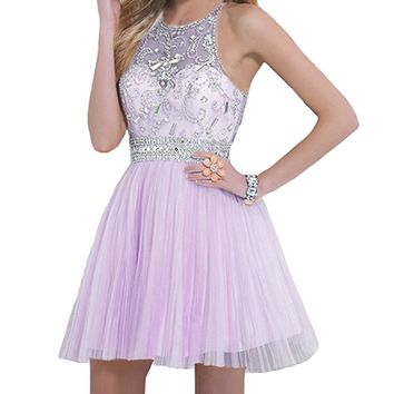 A-line Round Brought Short graduation dresses Juniors Dresses
