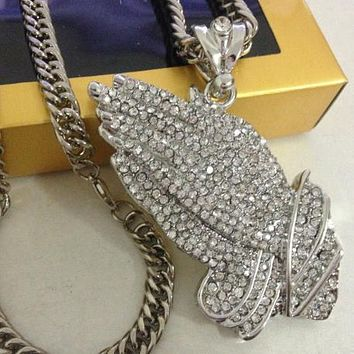 Boys & Men Fashion Hip Hop Diamond Necklace