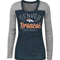5th & Ocean Women's Denver Broncos Charge Tri-Blend Long Sleeve Shirt | DICK'S Sporting Goods