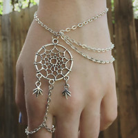 Handmade Dreamcatcher Leaf Ring Bracelet