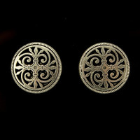 19 mm Art Deco Magnetic or Pierced Earrings