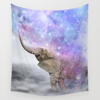 Don't Be Afraid To Dream Big • (Elephant-Size Dreams) Wall Tapestry by Soaring Anchor Designs