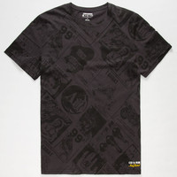 Converse Warhol News Mens T-Shirt Black  In Sizes