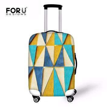 FORUDESIGNS Colorful Luggage Protective Covers Fresh Travel Suitcase Case Cover Thick Elastic Flower Travel Accessories For Girl