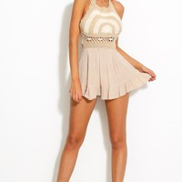 Treasure Island Playsuit Beige