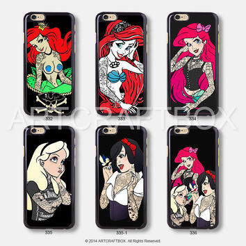 Tattooed Disney Princess iPhone Case Black Hard case 332