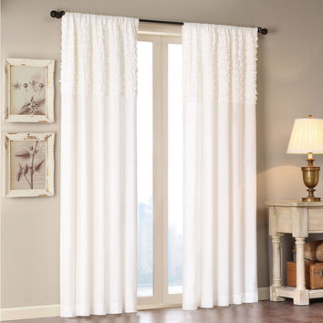 Madison Park Kylie Horizontal Ruffle Flippable Curtain Panel | Overstock.com Shopping - The Best Deals on Curtains
