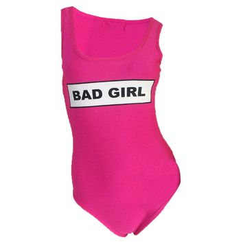 BAD GIRL - Women's Casual Sporty One-Piece Swimsuit