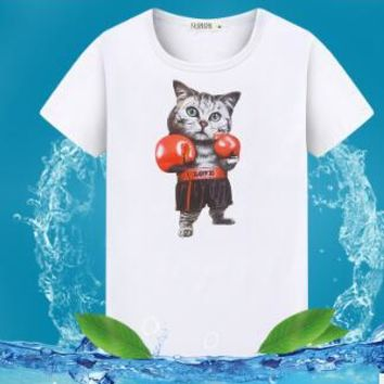 Anime T-shirt graphics ECTTC Masculina Cute Shiba inu Dog Print Men T-shirts Summer Tops Tees Anime T Shirt Men O-neck Cotton Fashion Tshirts  AT_56_4