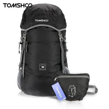 TOMSHOO 40L Sport Bags Outdoor Backpack Ultra Lightweight Water-resistant Nylon Outdoor Backpack Travel Trekking Foldable Bag